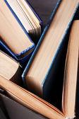 Colorful hardback and paperback books, close-up — Stock Photo