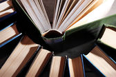Colorful hardback and paperback books, close-up — Stock Photo