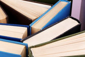 Colorful hardback and paperback books, close-up — ストック写真