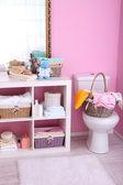Shelves in bathroom  — Stockfoto