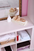 Shelves in bathroom  — Zdjęcie stockowe