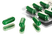 Capsules packed in blisters — Stock Photo