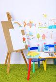 Interior of classroom at school — Stock Photo