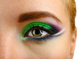 Beautiful eye with bright make-up, close up — Стоковое фото
