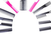 Professional hairdresser tools isolated on white — Stock Photo