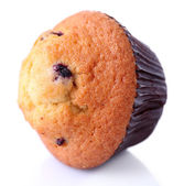 Blueberry muffin isolated on white — Stock Photo