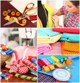 Fashion design collage — Fotografia Stock