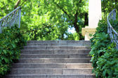 Stair walkway in green park — Stock Photo