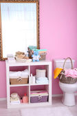 Shelves in bathroom  — Stockfoto