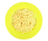 Italian spaghetti in plate — Stock Photo