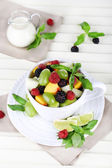 Fruit salad in cup — Photo
