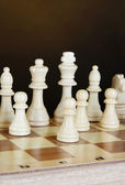 Chess board with chess pieces — Stock Photo