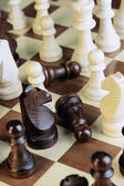 Chess board with chess pieces — Foto Stock