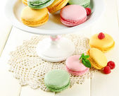Gentle macaroons — Stock Photo