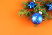Christmas decorations on fir tree — Foto Stock