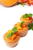 Tasty pumpkin muffins — Stock Photo