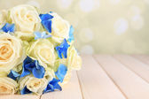 Beautiful wedding bouquet with roses — Stock Photo