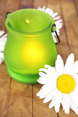 Bright icon-lamp with flowers — Stockfoto