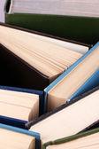Colorful hardback and paperback books — Stock Photo