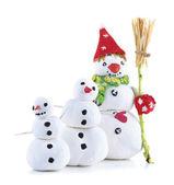 Beautiful snowmen — Stock Photo