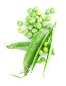čerstvý zelený hrášek — Stock fotografie