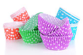 Colorful cupcake wrappers — Stockfoto
