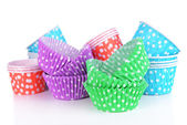 Colorful cupcake wrappers — Stock Photo