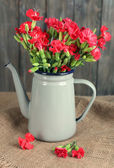 Flowers in flowerpot — Stock Photo