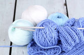 Yarns for knitting — Photo