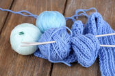 Yarns for knitting — Stockfoto