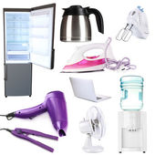 Collage of household equipment — Stock Photo