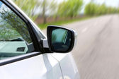 Speed. Car driving on road — Stock Photo