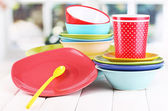 Colorful tableware — Stock Photo