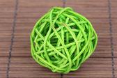 Wicker bamboo ball — Stock Photo
