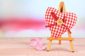 Beautiful heart small decorative easel — Stock Photo