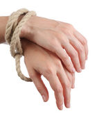 Tied hands — Stock Photo