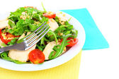 Fresh salad with arugula, close up — Stock Photo