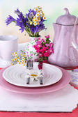 Pink table setting — Stock Photo