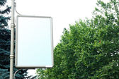 Advertise billboard on street — 图库照片