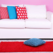 White sofa close-up — Stock Photo #49098663