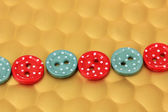 Color buttons on bright background — Stok fotoğraf
