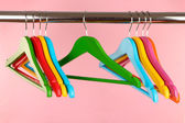 Colorful clothes hangers — Stock Photo