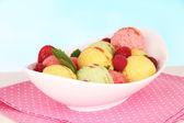 Delicious ice cream in bowl — Stock Photo