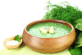 Tasty spinach soup — Stock Photo