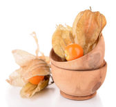 Physalis fruits in bowls — Stock Photo