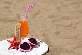 Thermometer in sand — Stock Photo