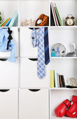 Drawers and shelves — Stock Photo
