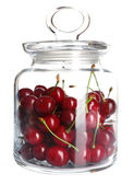 Cerises en pot de verre — Photo