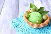 зеленое мороженое — Стоковое фото