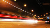 Moving car with blur light at night — Stock Photo